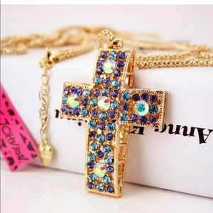Betsey Johnson multi color cross